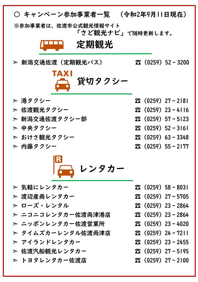 佐渡島内地域交通応援キャンペーン
