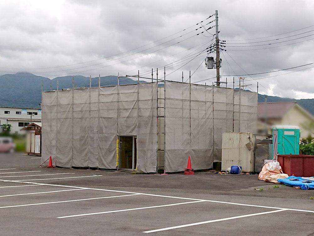 花やラーメン新潟支店(仮称)建設中